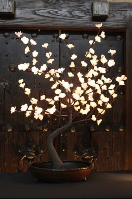 """OUT OF STOCK  32""""H WHITE BONSAI TREE WITH 128 WARM WHITE LEDS [184150]"""