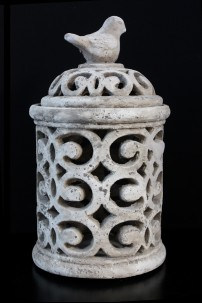 "Ceramic Pierced Jar 12""H, 7'W [201236]"