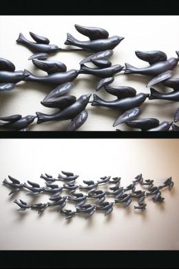 "Metal Bird Wall Decor 69""W, 18""H [201275]"