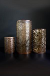 SET OF 3 GOLD METAL HURRICANES [201294]