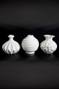 Ceramic Vase (3 Assorted) White [201295]