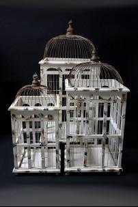 "Metal Bird Cage, Set of 3, 34"", 27"" [201300]"
