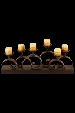 """Metal Candle Holder 33""""W, 13""""H [201307]"""