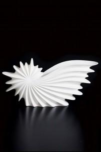 """Ceramic Nautilus Vase 14.5""""x4.25""""x23.75"""" [201310]"""