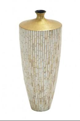 "Lacquer Inlay Medium Vase 9""W, 21""H [201336]"