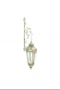 """Metal Glass Wall Lantern 12""""W.50""""H [201339]"""