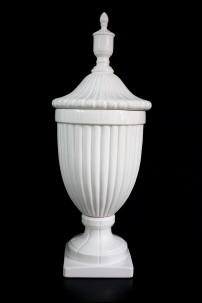 """Ceramic White Urn 12""""W, 32""""H [201340]"""
