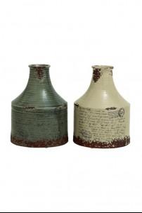 "Ceramic Vase (Set of 2) 9""W, 12""H [201349] ALMOST GONE!!"