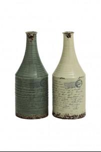 """Ceramic Vase (Set of 2) 7""""W 18""""H [201350]"""