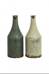 "Ceramic Vase (Set of 2) 7""W 18""H [201350] ALMOST GONE!"