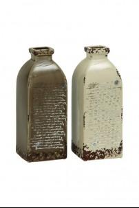 """Ceramic Vase (Set of 2) 5""""W, 12""""H [201354]"""