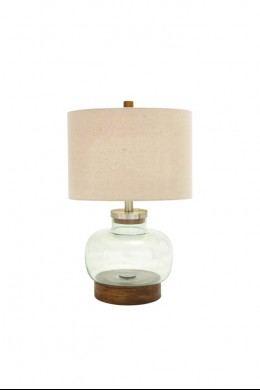 """Glass Fillable Table Lamp 23""""H [201361]"""
