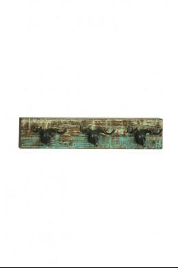 """Wood Metal Deer Wall Hook 26""""W,  5""""H [201365]"""