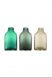 """Glass Bottle Vase (Set of 3) 6""""W.11""""H [201368]"""