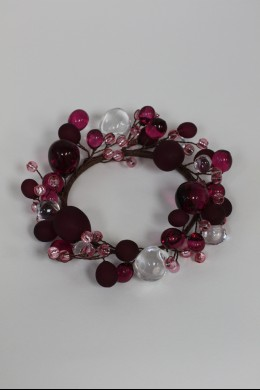 """Beaded Ring, Purple, Frosted 4"""" [220114]"""
