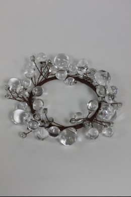 """Beaded Ring, Clear 3.5"""" [220116]"""