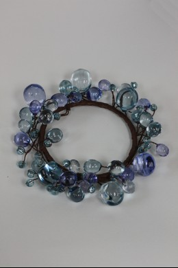 "Beaded Ring, Blue 3.5"" [220118]"