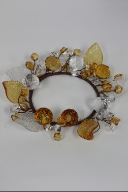 "Leaf Ring, Clear, Amber 3.5"" [220127]"