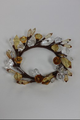 """Diamond Ring, Clear, Amber 4"""" [220137]"""