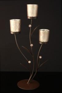 Brocade Silver Votive [230109]