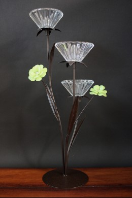Contemporary Glass Votive Holder 3 Count [230125]