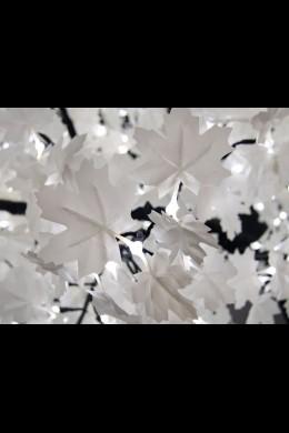 2600 Light 14' White Leaf Maple Tree, Warm White, Black Trunk [316227]