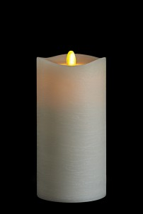 3.5 X 7 Matrix Pillar Candle, Ivory, Frosted Finish, Unscented, Timer, Remote Ready [384322]