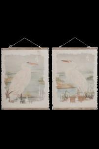 """Wall Décor, Cranes, 2 Assorted 30"""" x 42.5"""" [901258]"""
