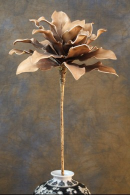 """OUT OF STOCK  12""""D x 34""""H COFFEE FOAM FLOWER  [FF1802]"""
