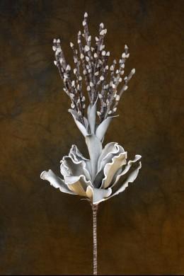Grey-White Foam Flower 38 Inch [FF2050]
