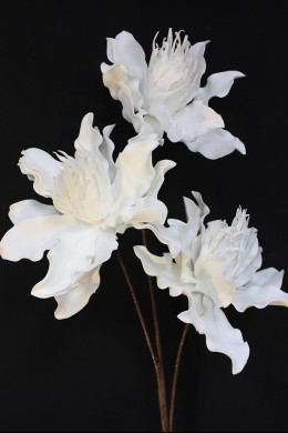 """OUT OF STOCK 46""""H x 9""""D WHITE BLOOMS  [FF2264]"""