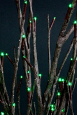 "20"" GREEN WILLOW BRANCH 60 INCANDESCENT LIGHTS  [GRWL60]"