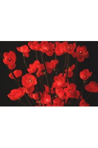 Red Plum Flower 60 Light 20 Inch - Battery Operated [RDFL6020-B]