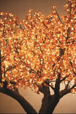 880 LIGHT 7' RED LEAF MAPLE TREE, WARM WHITE LEDS [TREMAP880]