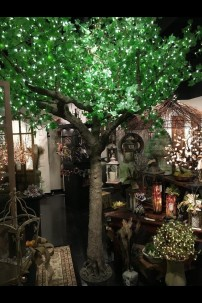 2600 LIGHT 14' GREEN LEAF MAPLE TREE, WARM WHITE LEDS [TREMAP2600-GR-14]*SPECIAL ORDER