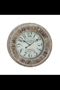 "WOOD WALL CLOCK 31""D (201416)"