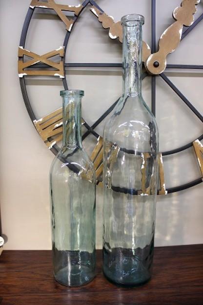 """30""""H GLASS BOTTLE VASE SHIPS PALLET ONLY [201427]"""