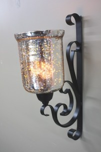 """MTL GLASS WALL SCONCE11""""W, 20'H"""