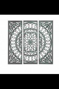 SET OF 3 WOOD MIRROR PANELS [201478] SHIPS BY PALLET ONLY