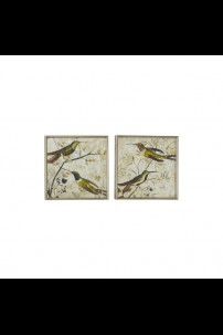 "16""W x 16""H SET OF 2 METAL GLASS WALL ART [201488]"