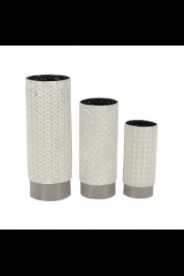 SET OF 3 METAL VASES [201489]