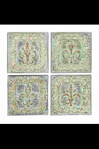 SET OF 4 METAL WALL DECOR [201492]