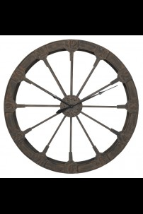 "47""D  RUSTIC WALL CLOCK [201496] SHIPS BY PALLET ONLY"