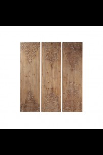 SET OF 3 WOODEN WALL DECOR [201497] SHIPS BY PALLET ONLY