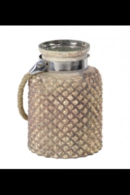 """7""""W x 10""""H HOBNAIL HURRICANE WITH ROPE HANDLE [201519]"""
