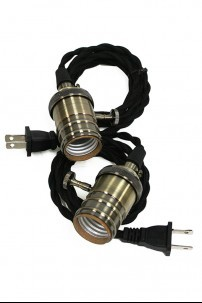 """**NEW** 84"""" 2PK BRAIDED ADAPTER W/110 CONNECTION [394155]"""