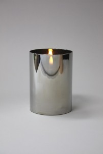 "3.5""D x 5""H CHROME RADIANCE POURED CANDLE  [478267]  PRE-ORDER MID-JUNE"