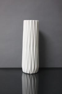 "13""H RIBBED CERAMIC VASE  [479358]"