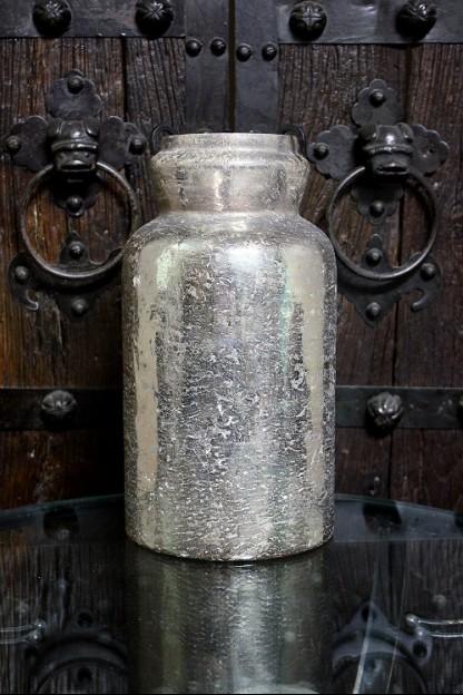 "15""H MERCURY GLASS JAR  [901324] SHIPS PALLET ONLY"