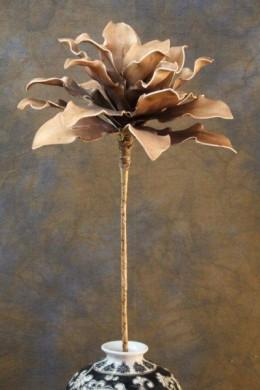 """YELLOW/COFFEE FOAM FLOWER 36"""" [FF1800}"""